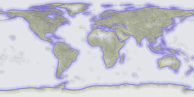 Abstract World Earth Map 11 Art Print by Bob Orsillo
