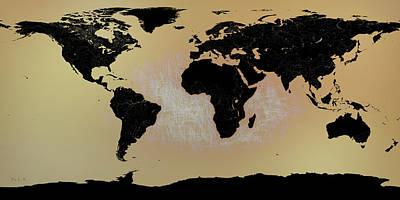 Photograph - Abstract World Map0117 by Bob Orsillo