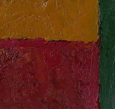 Abstract Xv Green Buffer Art Print by Chris  Riley