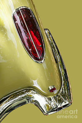 Photograph - Abstract Yellow '58 Corvette by Dennis Hedberg