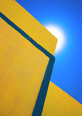 Photograph - Abstract Yellow And Blue by Meirion Matthias
