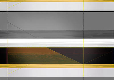 Lines Painting - Abstract Yellow And Grey  by Naxart Studio