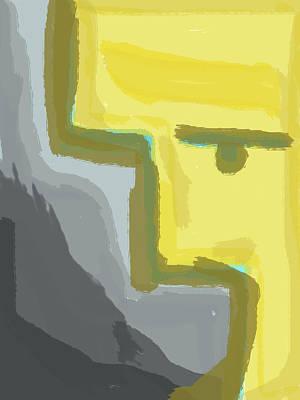 Digital Art - Abstract Yellow by Keshava Shukla