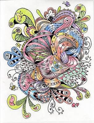 Drawing - Abstract2colored by Quwatha Valentine