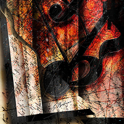 Violin Digital Art - Abstracta_02 Symbolz II by Gary Bodnar