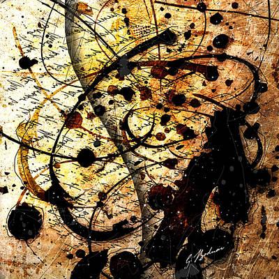 Drips Digital Art - Abstracta_17 Antiqua by Gary Bodnar