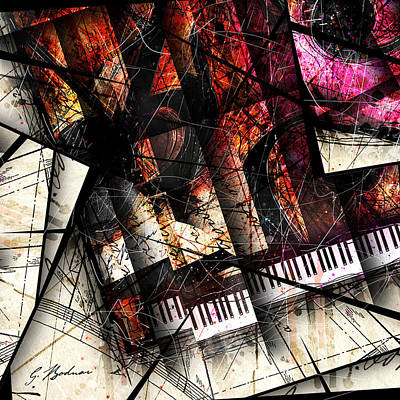 Abstracta_18 Opus I B Print by Gary Bodnar