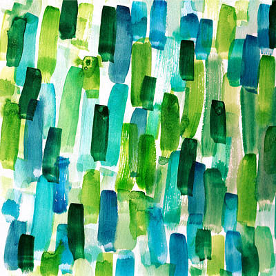 Abstractbrush Stroke In Watercolor Painitng Art Print by My Art