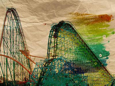 Roller Coaster Photograph - Abstractcoaster by Sean Dorazio