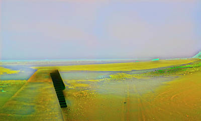 Photograph - Abstracted Low Tide At Arromanches by Jan W Faul