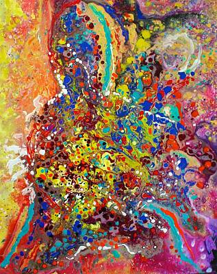 Painting - Abstracted Person Playing by Polly Castor