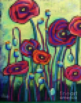Abstracted Poppies Original