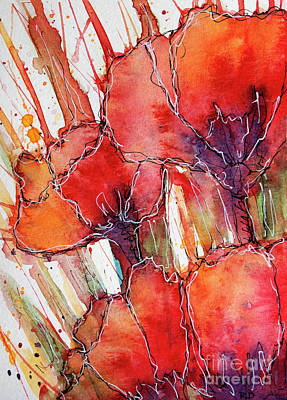 Painting - Abstracted Poppies by Rebecca Davis