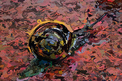 Abstracted Snail 318 Art Print