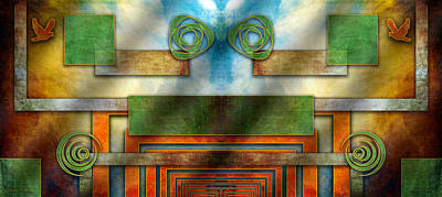 Digital Art - Abstraction 2 Mirrored by Chuck Staley
