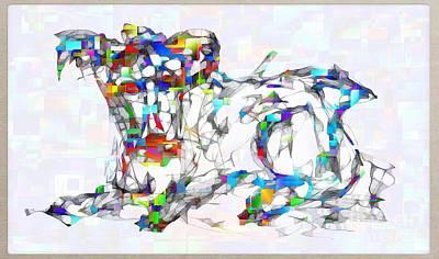 Digital Art - Abstraction 2124 by Marek Lutek