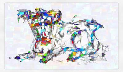 Digital Art - Abstraction 2125 by Marek Lutek