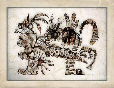 Winter Animals - Abstraction 2788 by Marek Lutek