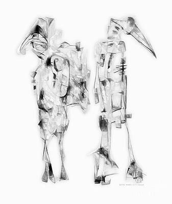 Antlers - Abstraction 3066 by Marek Lutek