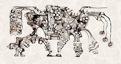 Digital Art - Abstraction 4140 by Marek Lutek
