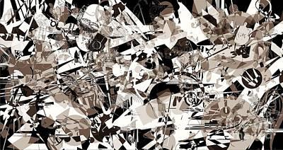 Digital Art - Abstraction 4142 by Marek Lutek