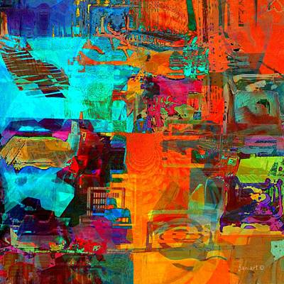 Yesayah Mixed Media - Abstraction Consumption And Frustration by Fania Simon