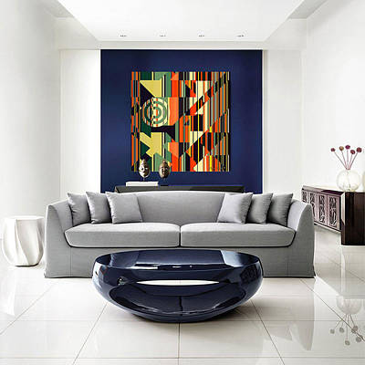 Digital Art - Deco Abstract 1 In Home by Chuck Staley