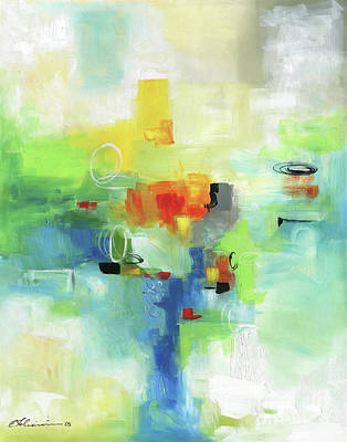 Painting - Abstraction In Time by Elena Feliciano