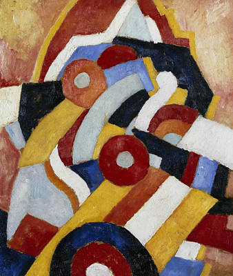 Abstraction Art Print by Marsden Hartley