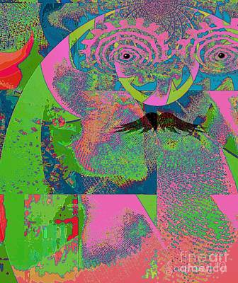 Abstraction Of A New World Art Print by Fania Simon