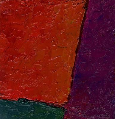Abstraction Xv Orange Crush Art Print by Chris  Riley