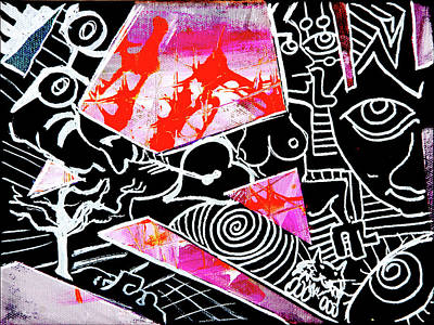 Painting - Abstractions by eVol i