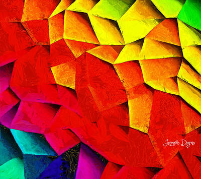 Origami Painting - Abstractions by Leonardo Digenio