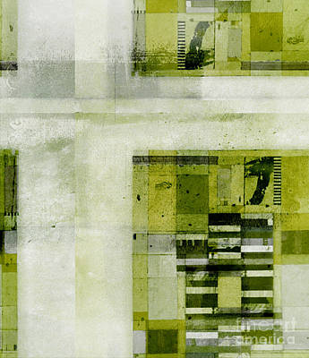Green Geometry Art Digital Art - Abstractitude - C4bv2 by Variance Collections
