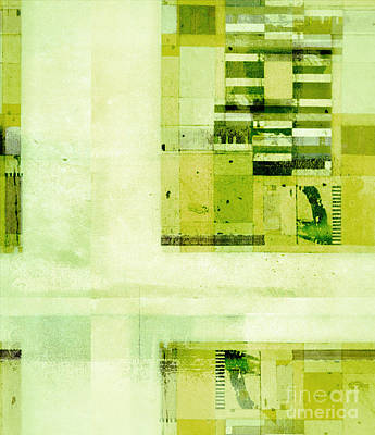 Green Geometry Art Digital Art - Abstractitude - C4v by Variance Collections