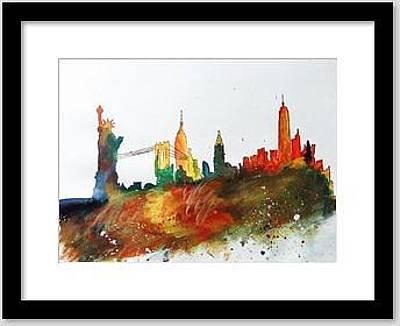 Abstract_new York Skyline Original by Aakanksha Singh