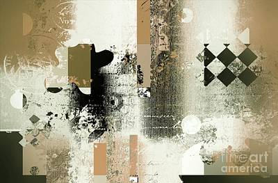 Abstracture - 21gold01 Art Print by Variance Collections