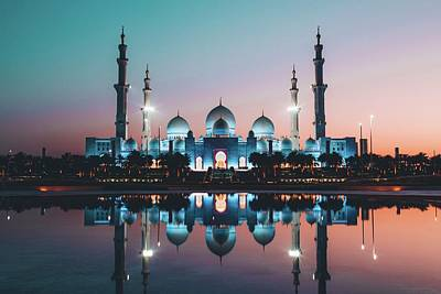 Photograph - Abu Dhabi Mosque by David Rodrigo