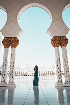 Abu Dhabi Mosque Art Print