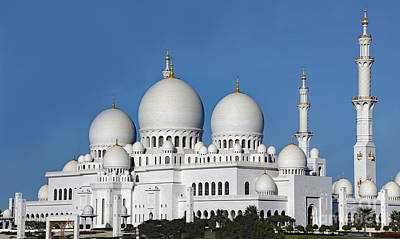 Photograph - Abu Dhabi-zayed Mosque by PJ Boylan