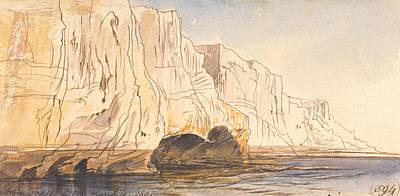 Drawing - Abu Fodde, 4 Pm, 4 March 1867  by Edward Lear