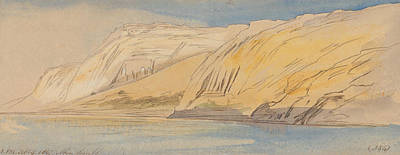 Abu Simbel Drawing - Abu Simbel, 1 Pm, 9 February 1867 by Edward Lear