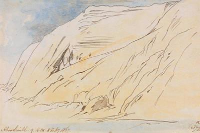 Abu Simbel Drawing - Abu Simbel, 9 Am, 8 February 1867 by Edward Lear