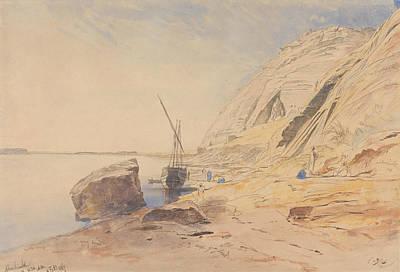 Abu Simbel Drawing - Abu Simbel, Eleven To Eleven-thirty Am, 8 February 1867 by Edward Lear