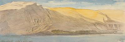 Abu Simbel Drawing - Abu Simbel, Four-thirty Pm, 8 February 1867 by Edward Lear