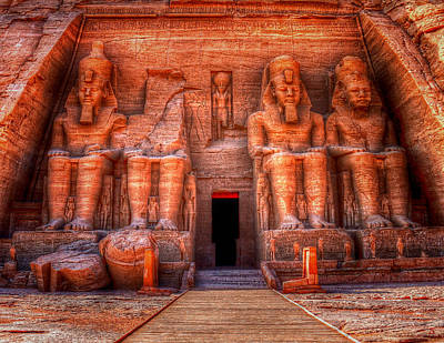 Photograph - Abu Simbel by Nigel Fletcher-Jones