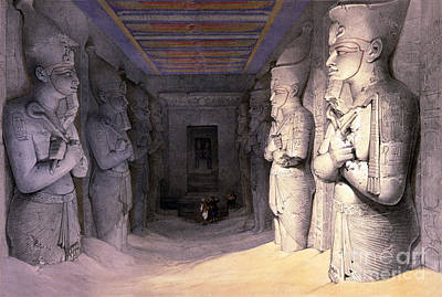 Abu Simbel Temple, 1838 Art Print by Science Source
