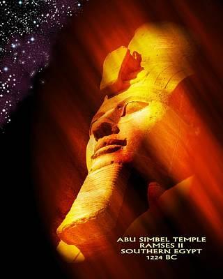 Digital Art - Abu Simbel Temple Ramses 2 by John Wills