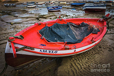 Photograph - Abuelo Boat At La Caleta Cadiz Spain by Pablo Avanzini
