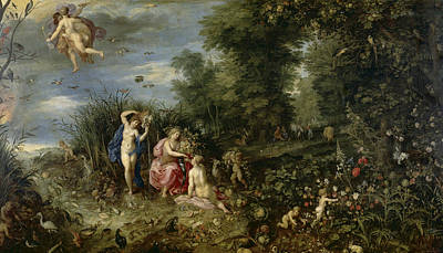 Painting - Abundance And The Four Elements by Hendrick van Balen